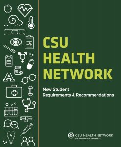 Image of the cover of CSU Health Network new student requirements booklet